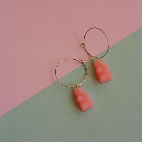 Pink Gummy Hoops