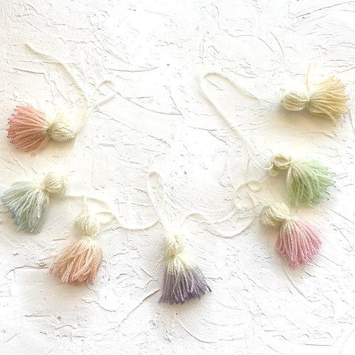 Rainbow Tassel Garland