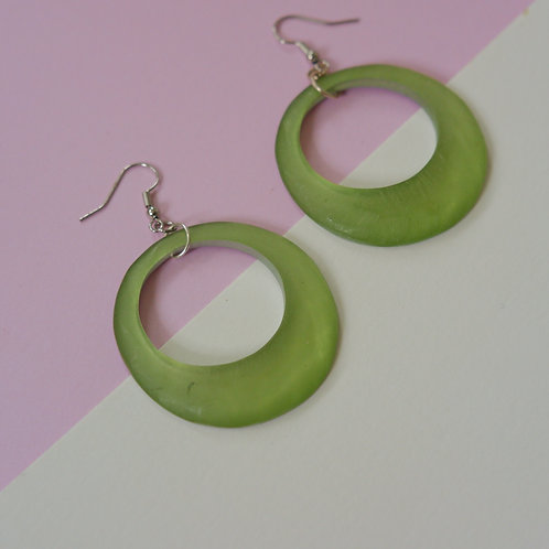 70s Lime Hoops