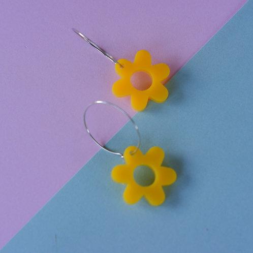 Yellow Flower Hoop