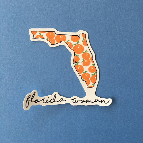 Florida Woman Sticker