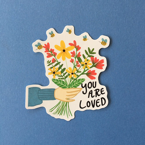 You Are Loved Vinyl Sticker