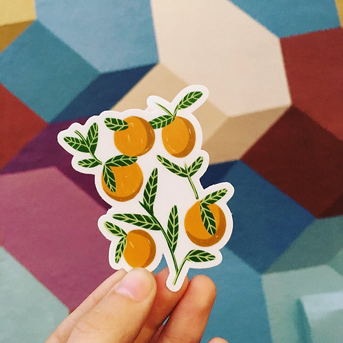 Oranges Vinyl Sticker