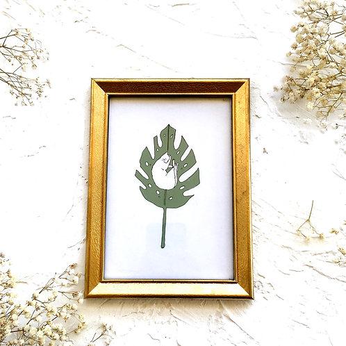 Dreaming on a Leaf Art Print