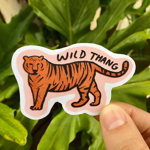 Wild Thang Tiger Sticker