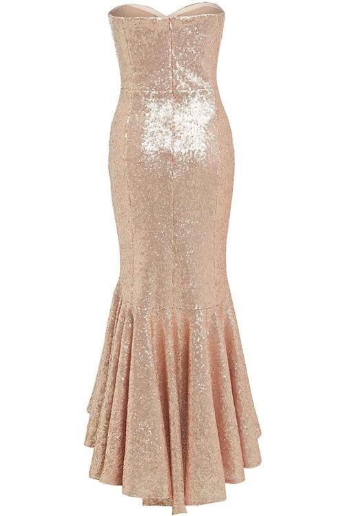 Saint A Kira High Low Dress in Pink