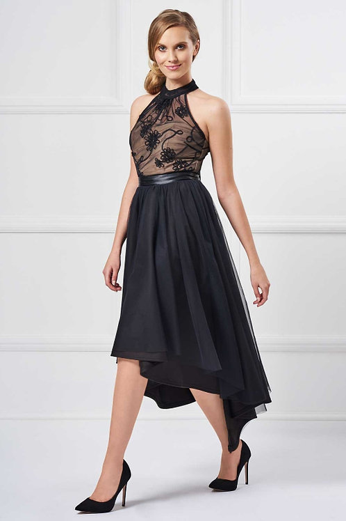 Saint A Nemesis High-Low Dress in Black