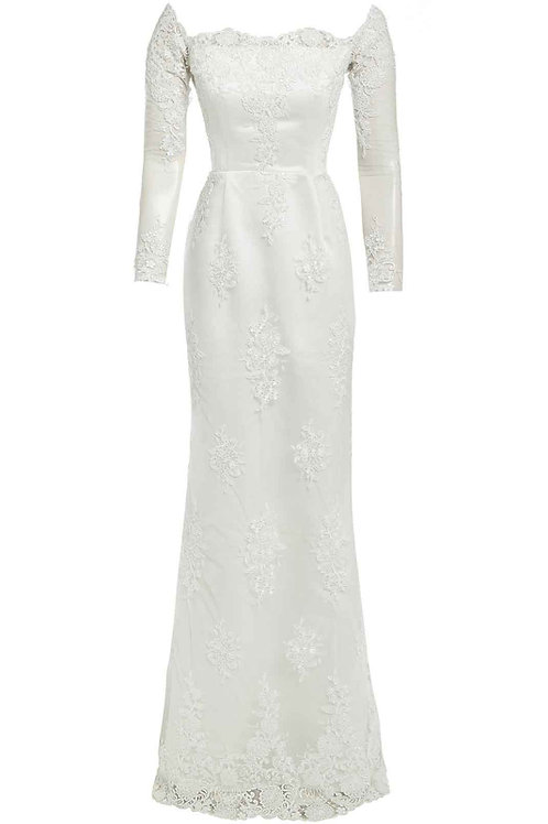 Saint A Hera Wedding Dress in Off White
