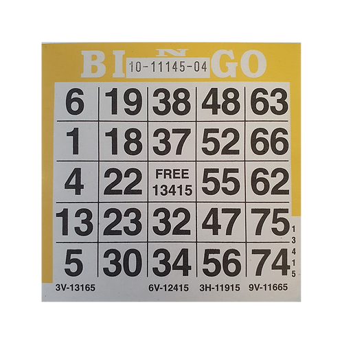 American Bingo 1on Single Sheets