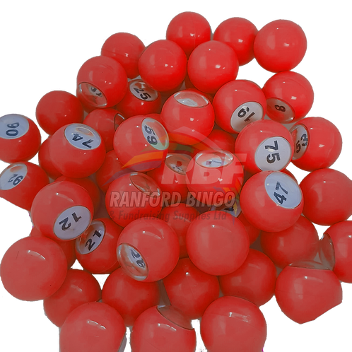 Resin Raffle Marbles RED