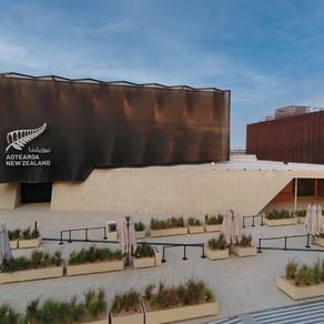 New Zealand Pavilion installs innovative moving façade - bringing the building to life