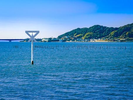 万葉集にも歌われた澪標を浜名湖で眺める