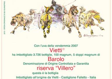 100 Parker-Punkte fürBarolo Riserva VILLERO 2007von VIETTI