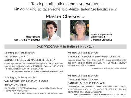 Exklusive Master Classes mit italienischen Kultweinen - nur bei uns auf der ProWein