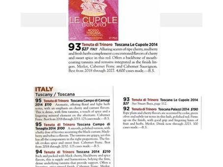 Tenuta di Trinoro im Wine Spectator - Bewertungen ab 92 Punkte aufwärts!!
