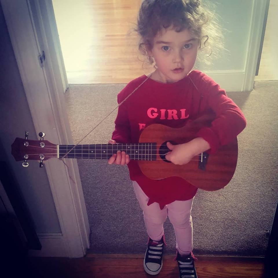Cadence being cute with a ukulele