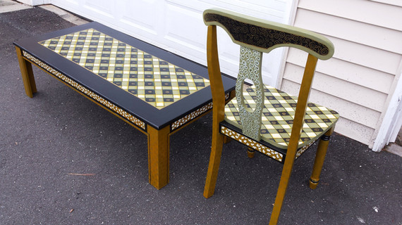 Asian Chair And Table