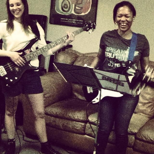 laughter at bass practice
