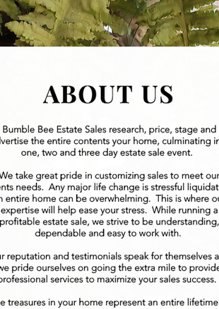 Bumble Bee Estate Sales