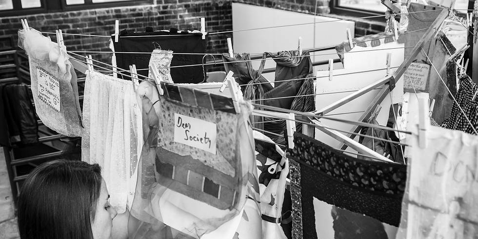 """Airing Out the """"Dirty"""" Laundry Participatory Installation"""