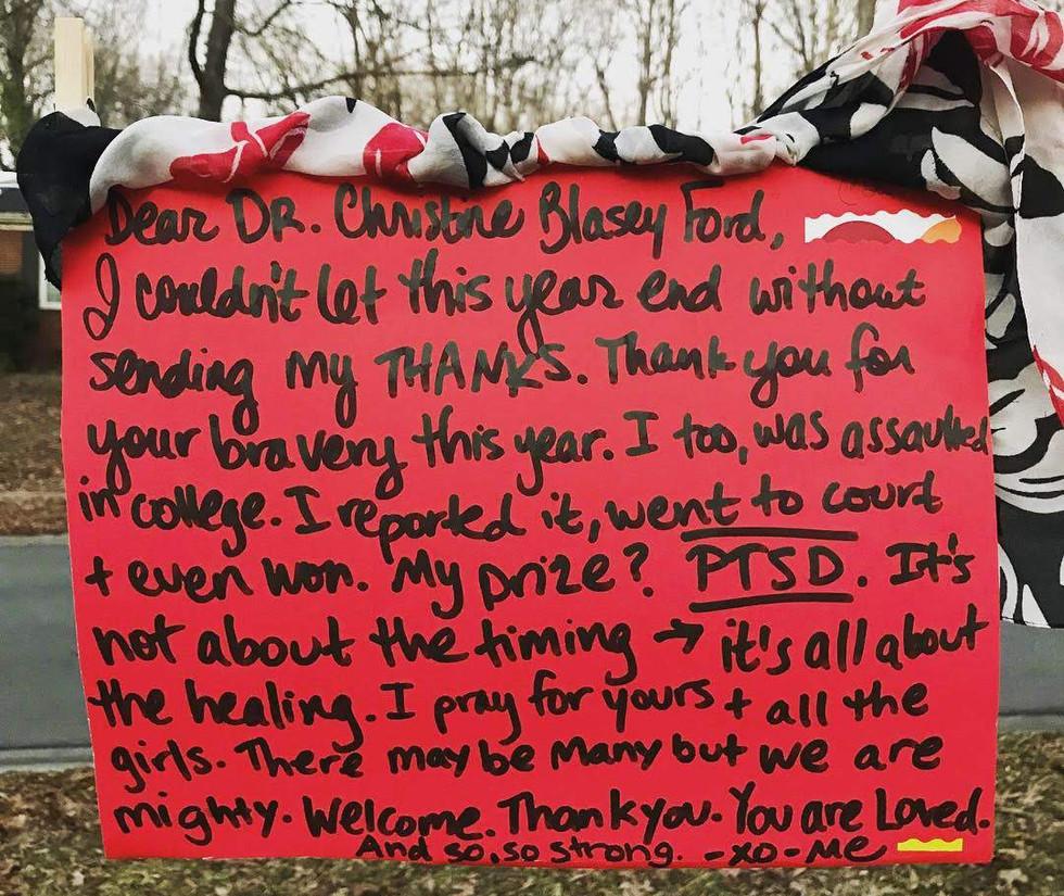 Dear Dr. Christine Blasey Ford,