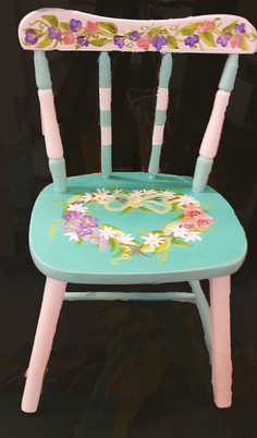 Floral Wreath Chair