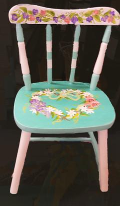 Floral Wreath Chair