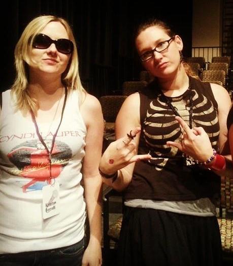 Kristen and Krystle