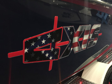 Custom AXIS domed side graphics