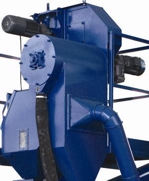Rubber Belt Tumble Blast Machine with Rotating Sieve