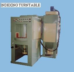 Auto Sandblast machine c/w indexing turntable