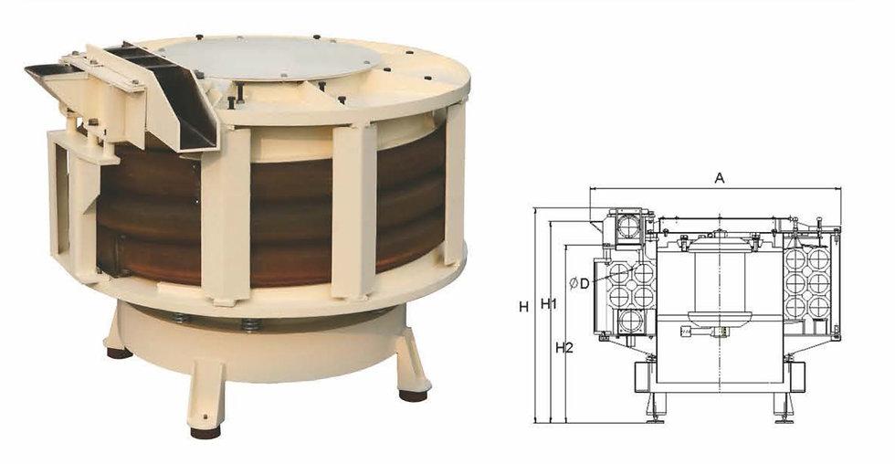 Spiral Tube Vibratory Finishing Machine