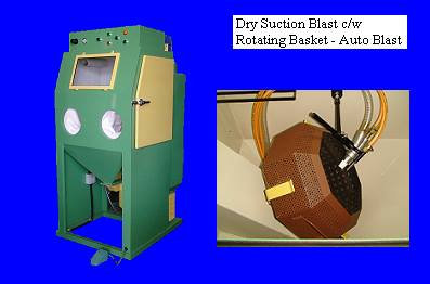 Dry Suction Blast c/w Rotating Basket