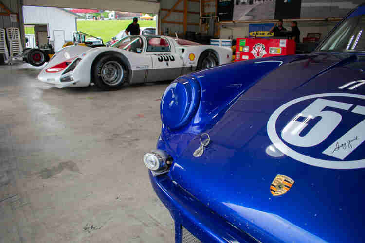 weathertech international challenge with brian redman at road america elkhart lake wisconsin 1966 VSC Porsche 906R of Justin Pauly and Revere Greist 1972 Porsche RSR ready to run weathertech international challenge with brian redman at road america elkhart lake wisconsin