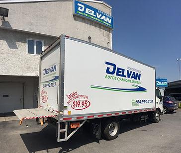 """Delvan Location camions plateforme 20"""""""