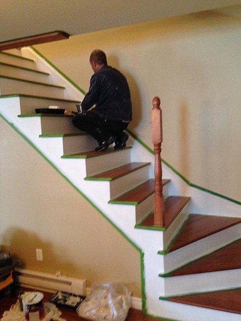 escalier longueuil plancher votre go t. Black Bedroom Furniture Sets. Home Design Ideas