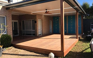 Hardwood or treated pine decks, pergolas, privacy screens