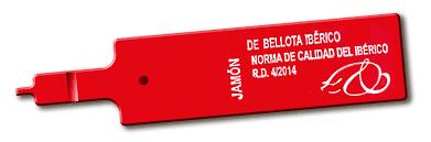 Etiqueta roja para jamón de bellota ibérico