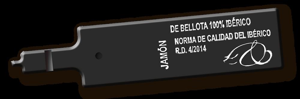 Etiqueta negra para jamón de bellota 100% ibérico