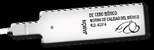 Etiqueta blanca para jamón ibérico de cebo