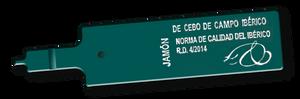 Etiqueta verde para jamón ibérico de cebo de campo