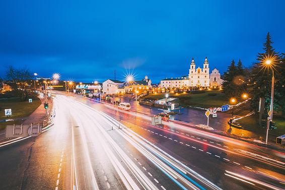 minsk-belarus-night-traffic-on-illuminat