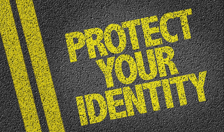Protect Your Identity written on the roa