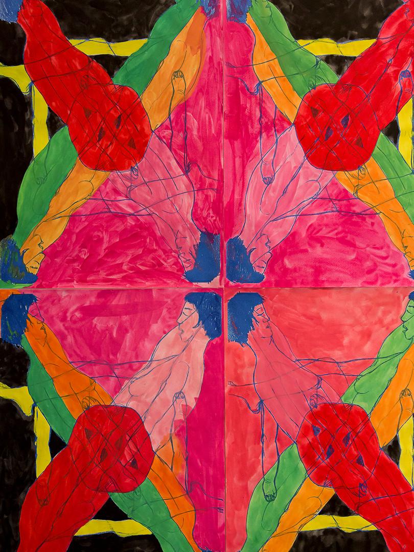 Título:Las equis: proyecto en diálogo con las ruinas deshabitadas de la fábrica textil La Escocesa, 2018.  Artista: Carmen de Ayora Comisaria: Susana Pardo