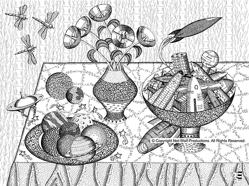 Still Life With Rockets and Planets