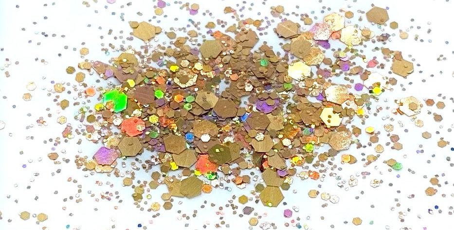 GLITTER: Chunky Mix - Bronze Holo