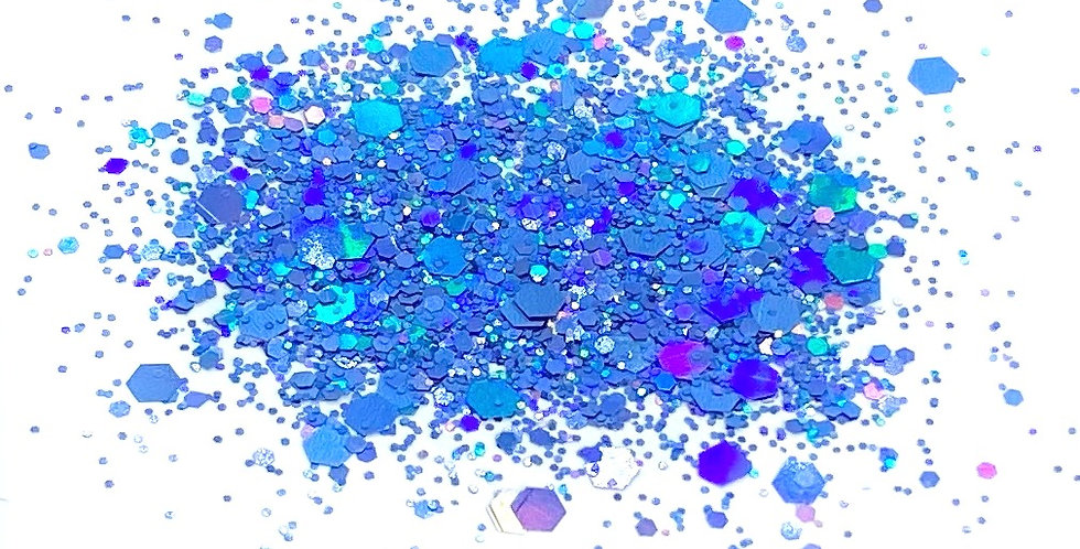 GLITTER: Chunky Mix - Blue Holo
