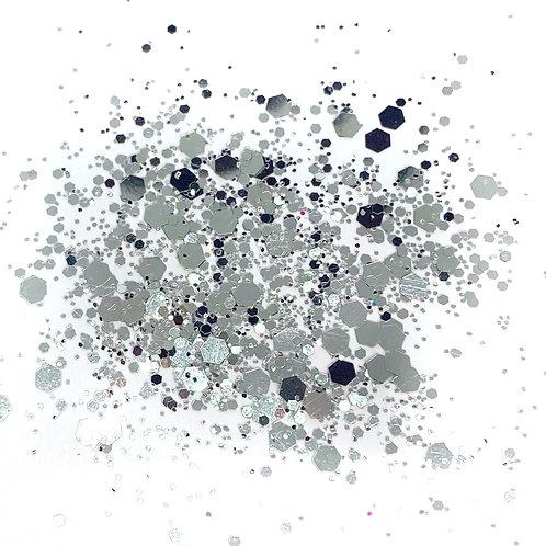 GLITTER: Chunky Mix - Pure Silver