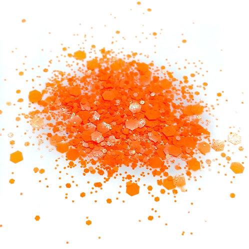 GLITTER: Neon Coral