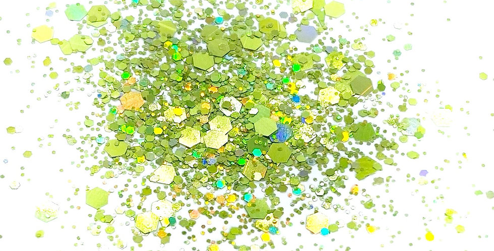 GLITTER: Chunky Mix - Light Green Holo